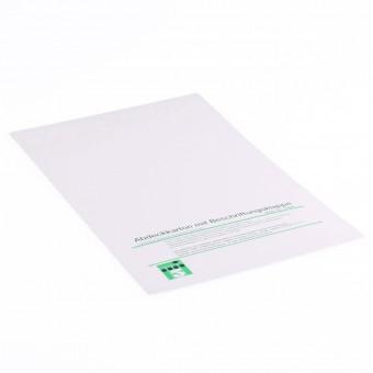 100 Abdeckpappen DIN A4 mit Beschriftungsklappe