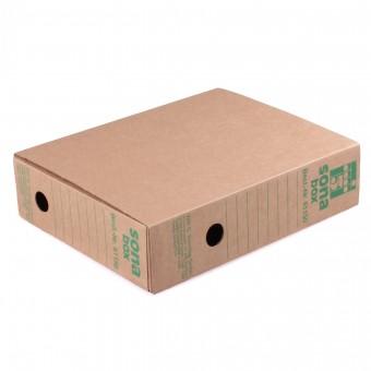 Sona-Box, braun L (Din A4) auch als Loseblattablage