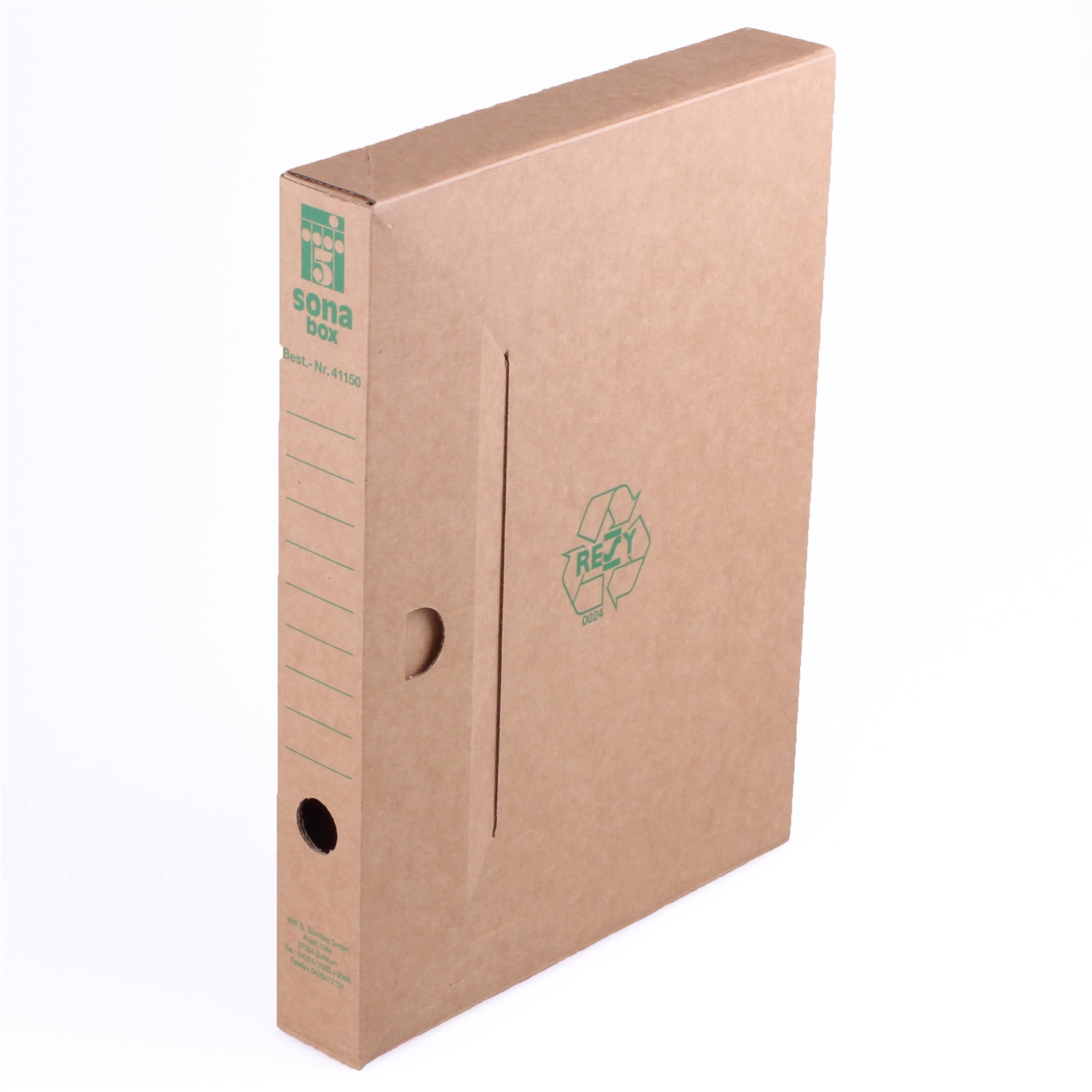 sona box braun s din a4 auch als loseblattablage online kaufen. Black Bedroom Furniture Sets. Home Design Ideas