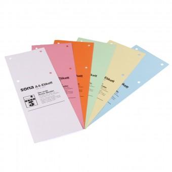 10 Etiketten für Ablageformat DIN A4