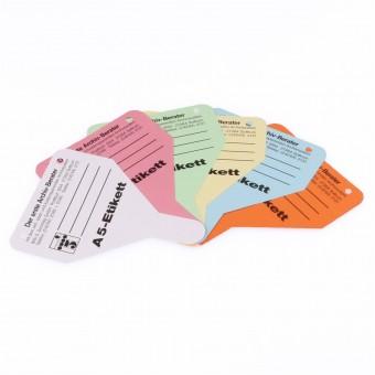 10 Etiketten (Zungen) für Ablageformat DIN A5